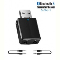 Адаптер Bluetooth 5.0 HQ-Tech ZF-169 Plus, USB power, A2DP+AVRCP, DC3.5, LED, коробка