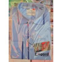 Рубашка детская, подростковая Lagard длинный рукав. Голубая+синий кант