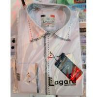Рубашка детская, подростковая Lagard длинный рукав. Белая+черный кант+строчка