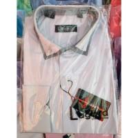 Рубашка детская, подростковая Lagard длинный рукав. Белая + кант точка/ромбик