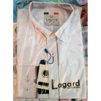 Рубашка детская, подростковая Lagard длинный рукав. Белая + красный кант точка/ромбик + строчка