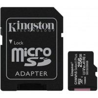 Карта памяти Kingston microSDHC 256GB Canvas Select+ A1 (W100/W85) + SD адаптер