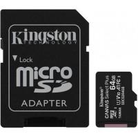 Карта памяти KINGSTON microSDHC 64Gb Canvas Select+ A1 (R100/W10) +ad