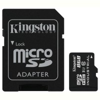 Карта памяти KINGSTON 8GB microSDHC C10 UHS-I R90/W20MB/s Industrial