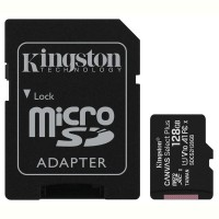 Карта памяти Kingston microSDHC 128GB Canvas Select+ A1 (W100/W85) + SD адаптер