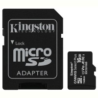 Карта памяти Kingston microSDHC 16GB Canvas Select+ A1 (W100/R85) + SD адаптер